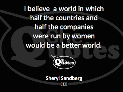 Sheryl Sandberg a better world