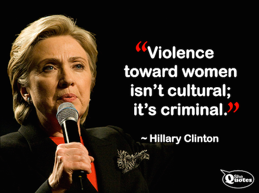 Hillary Clinton VAW is criminal