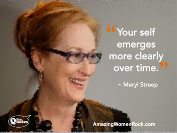 Meryl Streep self emerges