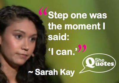 Sarah Kay I can