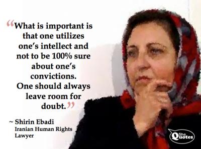 Shirin Ebadi doubt