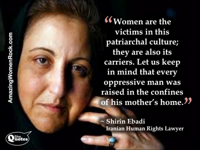 Shirin Ebadi women carry culture
