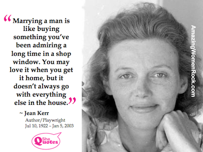 Jean Kerr on marriage