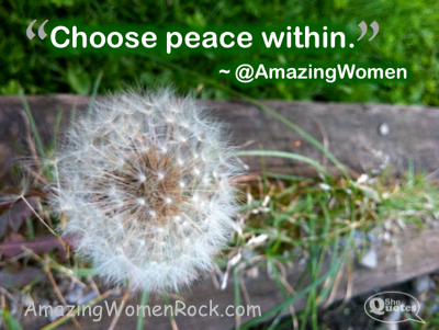 AWR Choose peace within