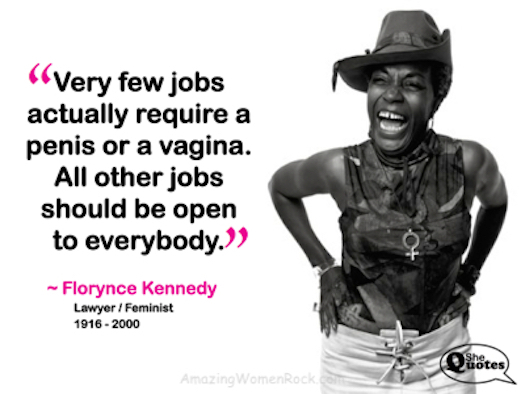 Florynce Kennedy penis jobs