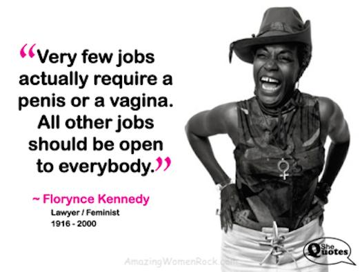 Florynce Kennedy penis jobs