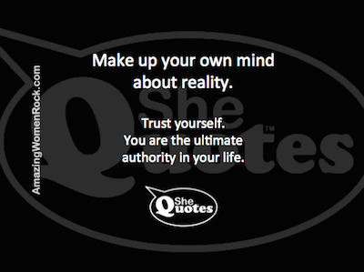 AWR trust your own reality