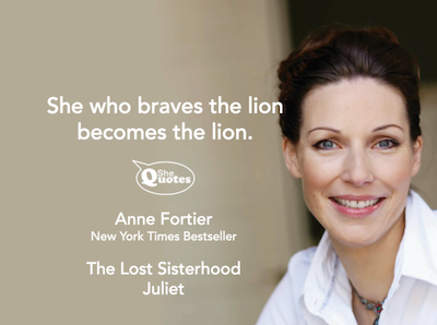 Anne Fortier braves the lion