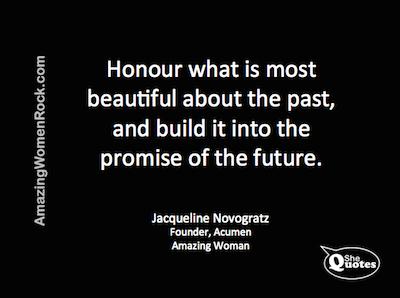 Jacqueline Novogratz honour past