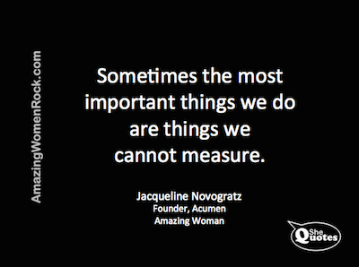 Jacqueline Novogratz important things