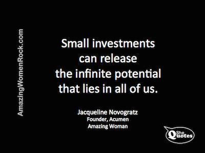 Jacqueline Novogratz potential