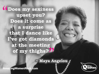 Maya Angelou diamonds