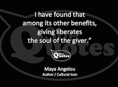 Maya Angelou giving liberates
