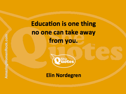 Elin Nordegren education