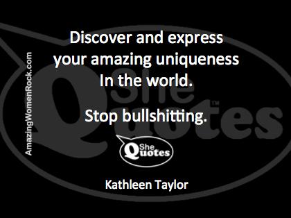 Kathleen Taylor stop bullshitting