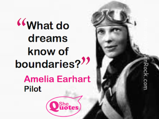 Amelia Earhart no boundaries