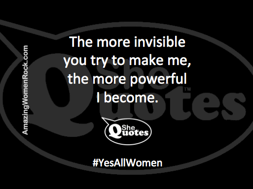 #SheQuotes invisible