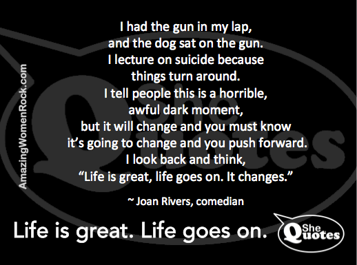 Joan Rivers on suicide