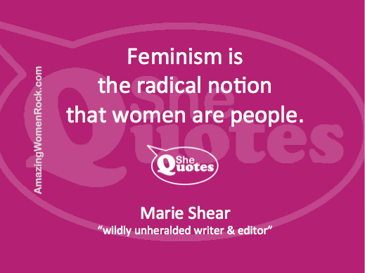 Marie Shear women are people