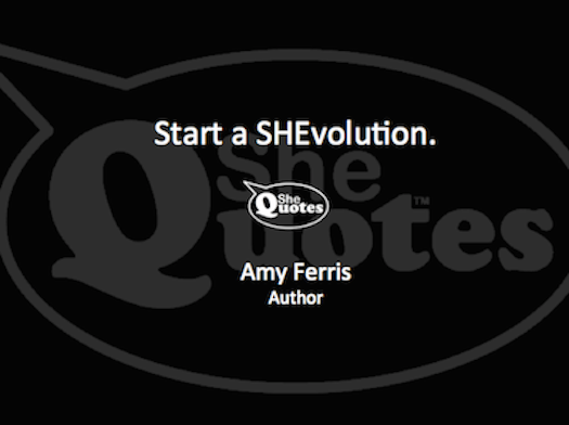 Amy Ferris start a SHEvolution