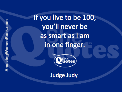 Judge Judy on brains