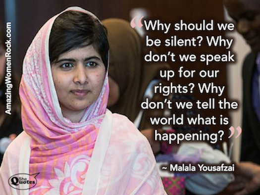 Malala why be silent