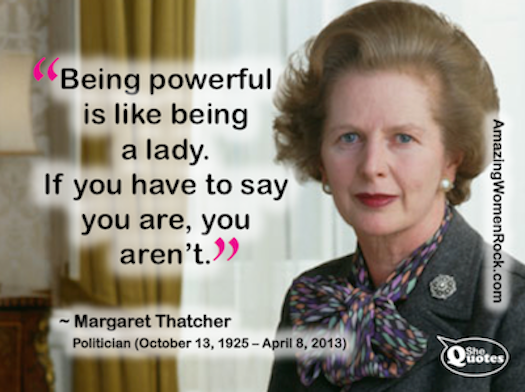 Margaret Thatcher power