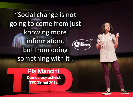 Pia Mancini at TEDGlobal 2014 (photo credit TED)