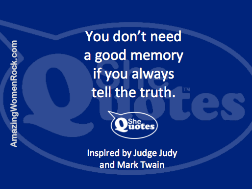 #SheQuotes memory and truth