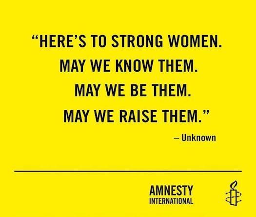 Amnesty strong women