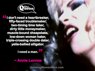 Anne Lennox no heartbreaker