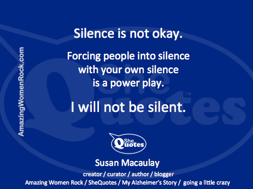 Me I will not be silent