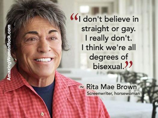Rita Mae Brown bisexual