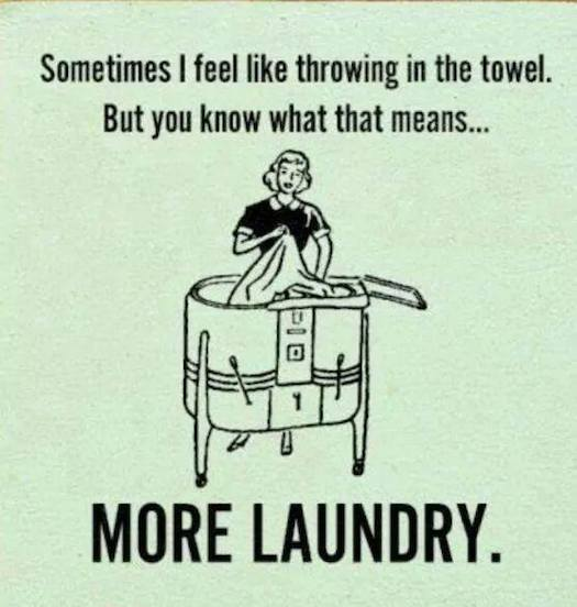 #SheQuotes throwing in the towel