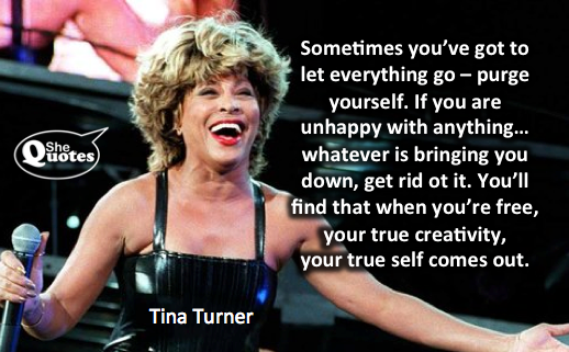 Tina Turner lets go