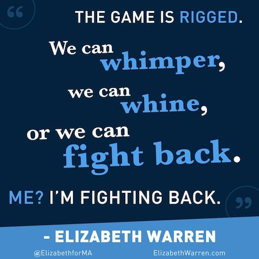 Elizabeth Warren is fighting back