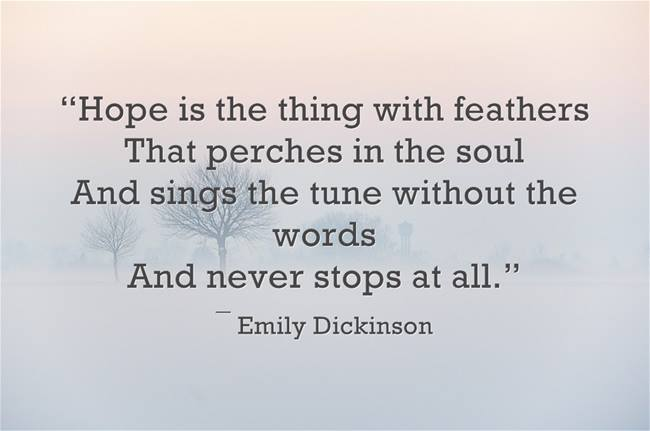 Emily Dickinson on hope