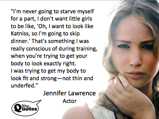 Jennifer Lawrence is fit and strong