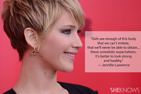 Jennifer Lawrence is strong and healthy