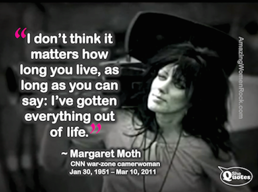 Margareat Moth how long you live