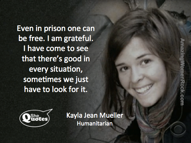 Kayla Jean Mueller is free