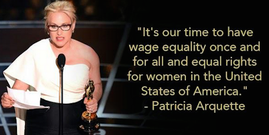 Patricia Arquette wants equality