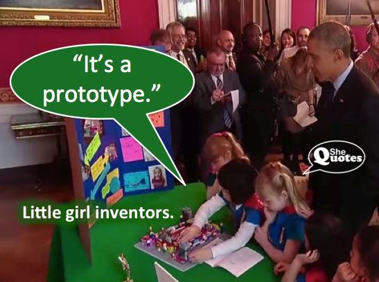 Little girl inventors prototype
