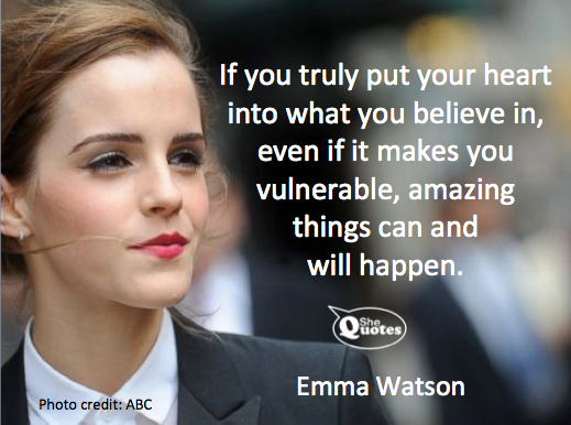 Emma Watson amazing things will happen