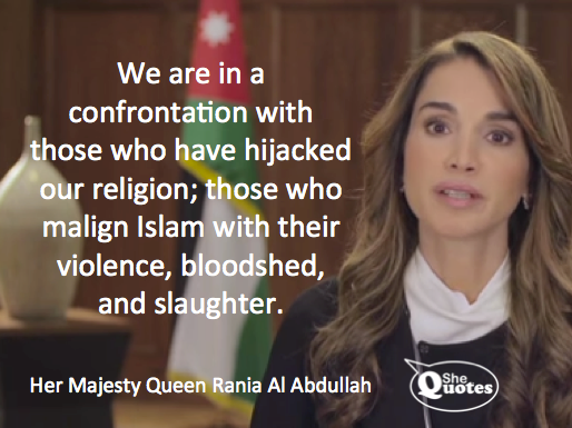 Queen Rania Islam hijacked