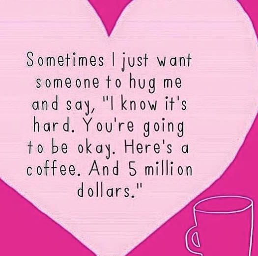 #SheQuotes A hug and 5 million