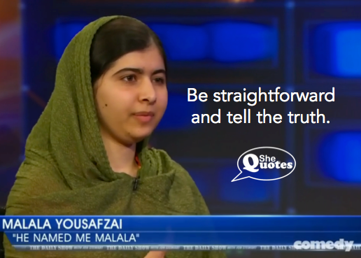 Malala tell the truth