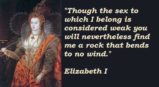 Elizabeth I bends to no wind