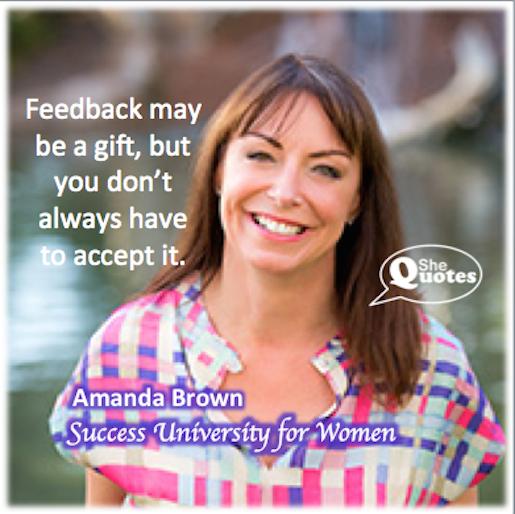Amanda Brown feedback
