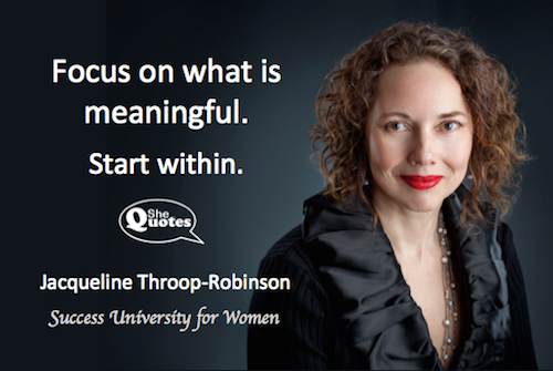 Jacqueline Throop-Robinson start within